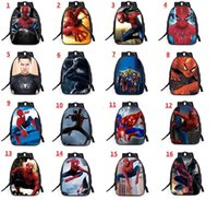 Wholesale Spiderman Bags Wholesale - 3D Printing pikachu spiderman school Bags Children Backpacks Cartoon Boy Schoolbag Children Quality School Student Backpack For Kids z018
