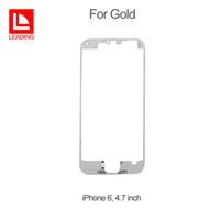 iphone bezel heißer kleber großhandel-Frontblende mit Heißkleber Mittelrahmen für Apple iPhone 6 6s 4,7 Plus 5,5 Zoll mit Touch-Screen-LCD geeignet