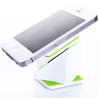 Wholesale Cube Holder - Wholesale-Universal 360degree magic cube Car Mount White phone Holder Bracket stands for iPhone for samsung Smartphone GPS FREE SHIPPING