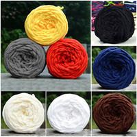ingrosso tintura a mano-1pc Colorful Dye Scarf Filato lavorato a mano per maglieria a mano Morbido cotone Filato di lana Lana spessa Lana gigante coperta di lana