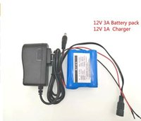 Wholesale battery cctv - 2017 New 12V 3000mAh 3S 18650 Li-ion Rechargeable battery Pack for CCTV Camera + 12.6V 1A Charger +Free shopping