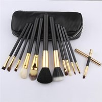 Wholesale Red Hair Brushes - NEW MC Makeup Brushes M brand 12 pieces Professional Brush sets red package or Black Package Free DHL