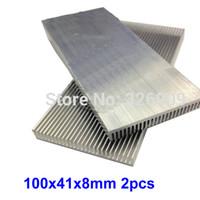 Wholesale Ic Heatsink - Wholesale- 2pcs 100x41x8mm Extruded Aluminum heatsink IC Chip VGA Memory Routers Northbridge Southbridge CMOS radiator