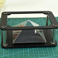 Wholesale Mobile Projector For Phones - Wholesale-New Holographic Tablet PC 3D Holographic Projection Pyramid DIY for 3.5 inch~6 inch Mobile Phone MV Projector