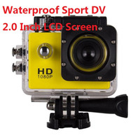 Wholesale used cars blue - Freeshipping 2.0 Inch LCD Screen 1080P 12MP Full HD Action Camera 30M Waterproof Camcorders Helmet Extreme Sport DV Car DVR