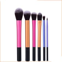 Wholesale eyebrow shaped online - 6pcs the diamond shape makeup brush Professional Blush Powder Eyebrow Eyeshadow Lip Nose Blending Make Up Brush high quality