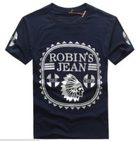 Wholesale Gradient Jeans Men - New Robin T-shirt Mens Robin Jeans T-shirts Man T-shirt Robins Men Bottoming Robins Shirt T-Shirt Tops Puls Size 3XL