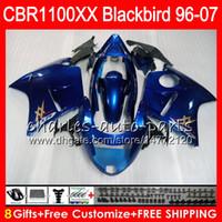 Body For HONDA Blackbird Glossy blue CBR1100 XX CBR1100XX 02 03 04 05 06 07 81NO50 CBR 1100 XX 1100XX 2002 2003 2004 2005 2006 2007 Fairing