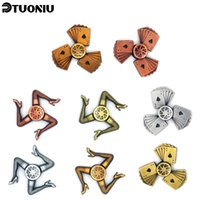 Wholesale Fine Metal Crafts - Retro Metal fidget spinner Cent Lasting rotation Low noise High Speed Fine craft hand spinner Killing Time