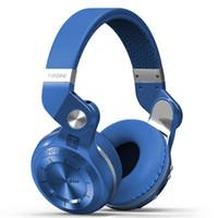 bluetooth 4.1 kulaklıklar toptan satış-Bluedio T2 Bluetooth Stereo Kulaklık Kablosuz Bluetooth 4.1 kulaklık Hurrican Serisi Kulak kulaklık Kulaklık