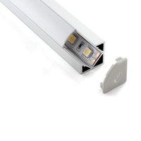 led alüminyum şerit ışıkları toptan satış-30X2 M setleri / lot L şekli alüminyum profil için led şeritleri 30 derece ışın köşe led mutfak ışıkları için led konut profili