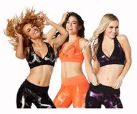 Wholesale Great Spandex - woman dance tops sports bra Great Getaway Metallic V Bra racerback vest tank top purple black orange color free shipping