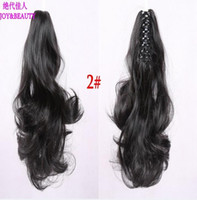 Wholesale Long Auburn Ponytail Extension - Wholesale- HOT!! 2016 high quality New Long 30cm Ponytail Hairpiece Long Curly Claw Clip in on Hair Piece Extension free shipping