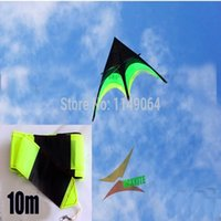 Wholesale Outdoor Rod Set - Wholesale- free shipping high quality large delta kite prairie kite toys with10m tails handle line outdoor flying hcxkite rod ripstop wei