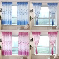 Wholesale Taotown s cmPastoral Romance Print Sheer Window Curtains For Living Room Bedroom freeshipping