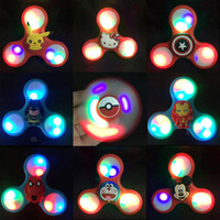 Wholesale Baby Big Wheel - Figet Spinner Antistress Toys Cartoon LED Anti stress carki handspinner figet spinners ADHD EDC wheel finger Baby toy gift
