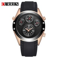Wholesale Dashboard Leather - Curren Dashboard 3ATM waterproof Quartz Men's Watches fashion Army Male Vogue Mens Wristwatch, Brand High quality 8141