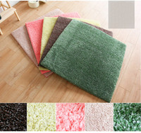 Fleece Fabric square carpet tiles - 4 Sets Spliced Mat Doormat Footcloth Carpet Tile Area Rugs Living Room Discount Flooring Pad Matting Covering For Sale