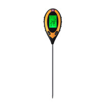 Wholesale Temperature Moisture Sunlight - Wholesale- Professional 4 In1 LCD PH Meters Digital Temperature Sunlight Moisture PH Garden Soil Tester Gauge Meter