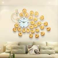 Wholesale Wall Adornment - Luxurious wall clock Office Decoration wall clock European Iron Diamond Wall Clock Modern and fashionable adornment