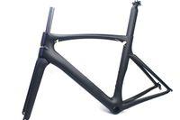 rennrad carbon 49cm großhandel-Carbon Rennrad Rahmen schwarz matt Finish Rennrad Rahmen Radfahren Frameset keine Abziehbilder Klarlack