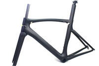 Wholesale Bicycle Frame 52cm - Carbon road bike frames Black matt finish racing bicycle frame cycling frameset No decals clear coat