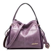 Wholesale Leather Women Bags Online - Wholesale- kabelky Luxury Handbags Women Bags Designer Shoulder Bag Female Italian Leather Office Ladies Hobo Bag Shop Online Handbag H 15