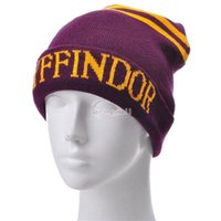 Harry Potter Beanie Ravenclaw Gryffindor Cranio Caps Slytherin Hufflepuff Cappelli a maglia Cosplay Costume Cappelli School Scimmia Cappelli Regalo B1103