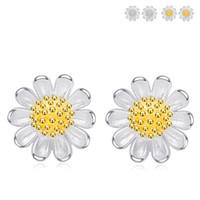 Wholesale 925 Sun Earrings - Fashion Sun Flower Women Ear Stud YJY 925 Sterling Silver Earrings Sweet Women's Jewelry Accessories Eardrop New Year Gift for Girls