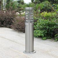 lampe à gazon en acier inoxydable achat en gros de-poteau extérieur tige poteau d'éclairage colonne colonne LED moderne en acier inoxydable imperméable lampe de pelouse extérieure étanche