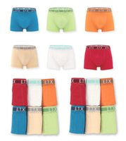 Wholesale Boys Boxer Briefs 12 - Brand Quality Comfortable Boy Boxer 2-16 Years Children Underwear Great Stretch Seven Sizes Red Blue Khaki White
