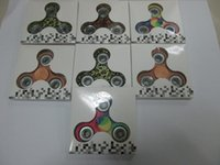 Wholesale Wholesale Child Bikes - 2017 HOT fidget spinner Colour Camouflage Hand Spinner Plastic EDC For Autism And ADHD Children Toys Tri-Spinner Fidget Toy HandSpinner