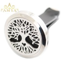 Heart Tree of Life 30mm Aromaterapia Óleo essencial Cirúrgico Stainless Steel Pendant Perfume Diffuser Car Locket Incluir 50pcs Felt Pads