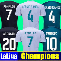 Wholesale Real Gold Men - Thailand Camisa Champion league Real madrid jersey 2018 RONALDO soccer jerseys 17 18 sergio ramos maillot BALE ASENSIO MODRIC football shirt