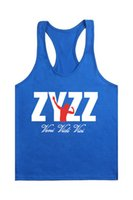 Wholesale Sexy Equipment - Wholesale- Fashion Man Printing Zyzz Stringer Tank Top Men Bodybuilding Equipment Clothing and Fitness Shirt Vest Singlets Muscle Top