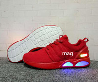 Wholesale Designers Art - air Mag Back To the Future Running Shoes for Men Fashion Designer Sneakers Led Lights Shoes Black Grey Red Man Size 40-44