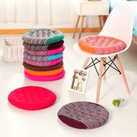 100 cotton nonwoven round new coarse cloth round chair cushions striped candy color tatami