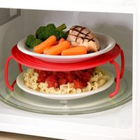 Wholesale Microwave Oven Shelf - Multifunctional Microwave Oven Heating Layered Steaming Tray Tray Double Layer Insulation Plate Shelf Potholder