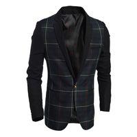 Wholesale blazers korea for sale - Group buy High Quality Asian Size New Fashion Casual Cotton Slim Blazer Korea Style Suit Male Jacket Blazer Men