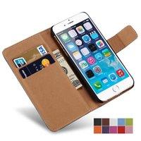 ingrosso caso del portafoglio di iphone di apple-Custodia per iPhone x 8 7 Plus Portafoglio Flip Style Luxury PU Custodia in pelle nera con porta carte di credito