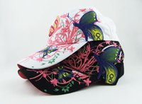 Wholesale Pink Butterfly Cake - Sell like hot cakes on the new embroidery butterfly madam baseball hat Han edition cap fashion personality sun hat
