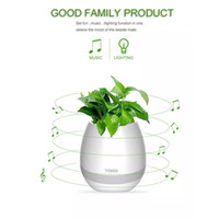Wholesale Led Lights Flower Pot - Wireless Smart Music Flower pot Bluetooth Speakers Touch Plant Pot Piano-Playing Multi-color LED Night Light for Office Home Decor