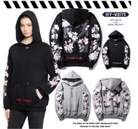 Wholesale Pullovers Cross - Europe and the United States tide off the back of the cherry cross arrow letters printed hooded cashmere sweater men and women loose jacket