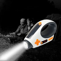 Wholesale Radio Led Torch - High end Flashlights Solar Hand Crank Dynamo Powered LED Light Manual Electricity Generation FM AM Radio Torches Phone Charger Portable