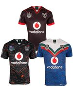 Wholesale Warriors Jersey Xl - 2017 2018 Auckland Warriors rugby jerseys 17 18 top quality 9S men rugby shirts NZ Warriors shirts free shipping