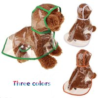 Wholesale Winter Ponchos For Sale - 2017 Hot style transparent raincoat poncho cute fashion pet clothes for Teddy and poodles by Factory direct sale