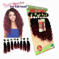 бразильская пряжа для волос оптовых-Фигурные люди плетение волос бразильского наращивание волос 220га малайзийских волосы пучки тело волна HUMAN ткет бордовый цвет ткать связки