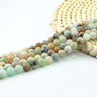 Wholesale Mix Semi Precious Stones - Mixed Beads Smooth Round Natural Gemstones Semi Precious Beads 4 6 8 10mm Full Strand 15 inch L0067#