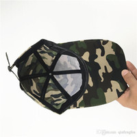 Wholesale army camo print - Mens Cap Baseball Casquette Camouflage Hats For Men Camouflage Cap Women Blank Desert Camo Hat Army snapback