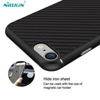 Wholesale Nillkin Cover Case - For iphone 7 7 plus NILLKIN Synthetic Fiber + PP Hard Back Cover for iphone 6 6s plus Ultra Thin case with Magnetic Holder